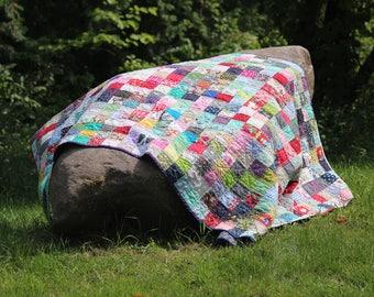 Patchwork scrappy quilt