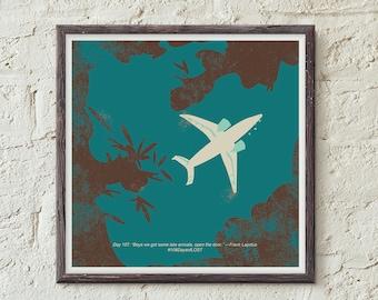 LOST print, Lost TV Show, 4 8 15 16 23 42, ABC's Lost, Nerd Print, Art Print, Illustration, Plane, Losties, Wall Art, Home Decor, Geek Art