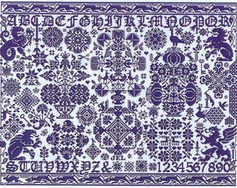 St Reatham by Long Dog Samplers Counted Cross Stitch Pattern/Chart