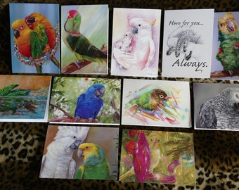 """Blank greeting cards with original artwork. New designs!  5x7"""". Choose from 10 designs!"""