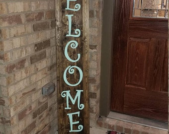 Welcome Sign, Welcome Sign Front Porch, Welcome Sign Front Door, Wood Welcome Sign, Rustic farmhouse front porch welcome sign