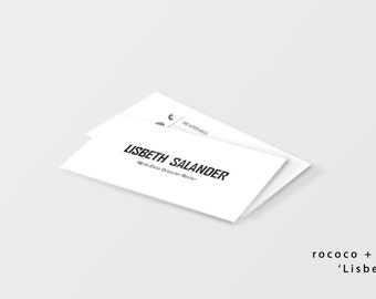 Business Card Template | Instant Download | Easy Edits | Bold, Strong, Feisty Lisbeth