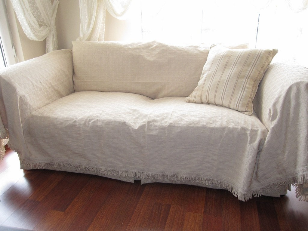Large Sofa Throw Covers Rectangle Tassel Ivory Couch ~ Sofa Furniture Protectors