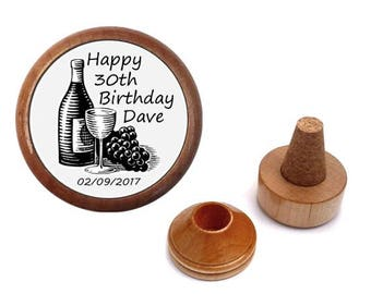 Personalized 30th birthday gift for him her men women | 30 year old. 30 th birthday present | Bottle stopper set