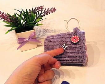 Mug cozy, coffe cozy, alphabet,  Personalized gift, Personalized cup cozy, home gift, Initials, mug sweater, cup cozy, mug holder, violet