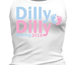 Dilly Dilly Baby Coming (Women's Racerback Tank)