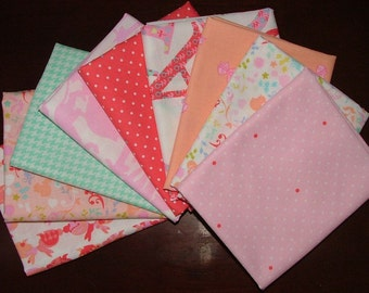 Oh Baby Fat Quarter Bundle of 9 by Cynthia Rowley for Michael Miller