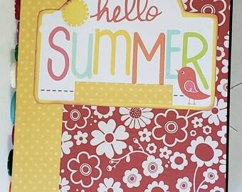 Hello Summer..Summer series junk journal, scrapbook, diary, smashbook