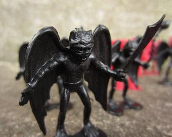 Vintage  Fantasy Gargoyles Demon Plastic Figures DFC