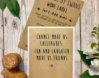 Friend wine label, funny gift, funny gift,for her, for him, wine bottle, wine labels,work colleague,wine bottle, birthday gift, fun laughter