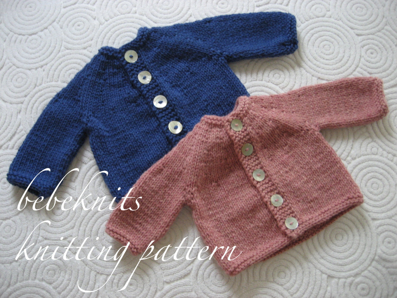 Bebeknits Simple Round Yoke Baby Cardigan Knitting Pattern from ...