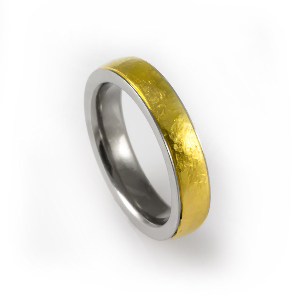 Best Ring for Him His Gold Wedding Cool Men\'s Gold Band