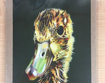 envelope with artcard  duck