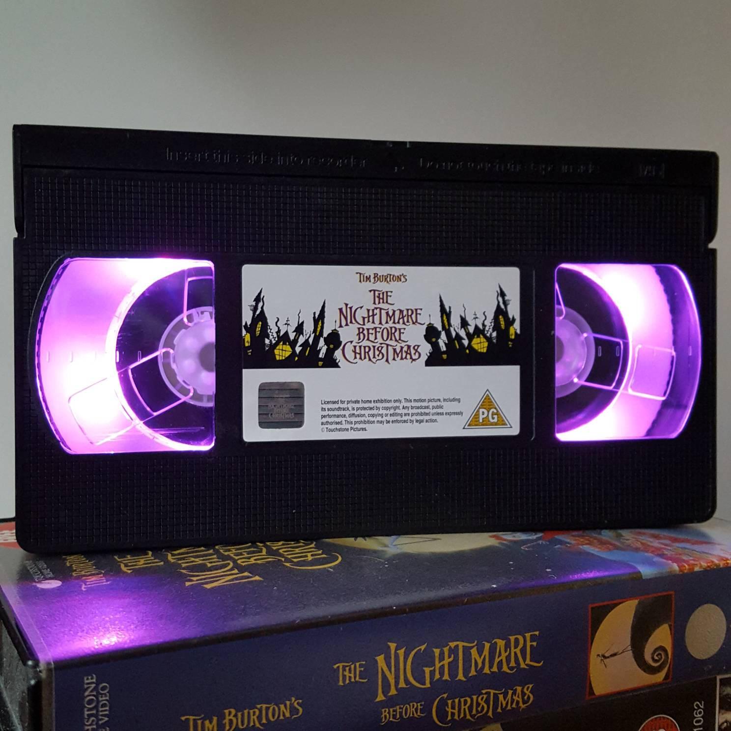 Retro VHS Lamp The Nightmare Before Christmas Show Night Light
