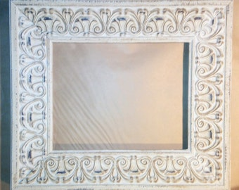 """White Washed Shabby Chic French Country Picture Frame 8 x 10"""""""