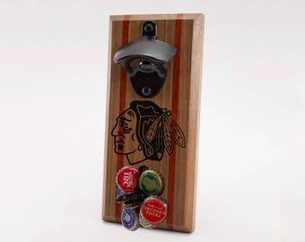 Chicago Blackhawks Magnetic Bottle Opener