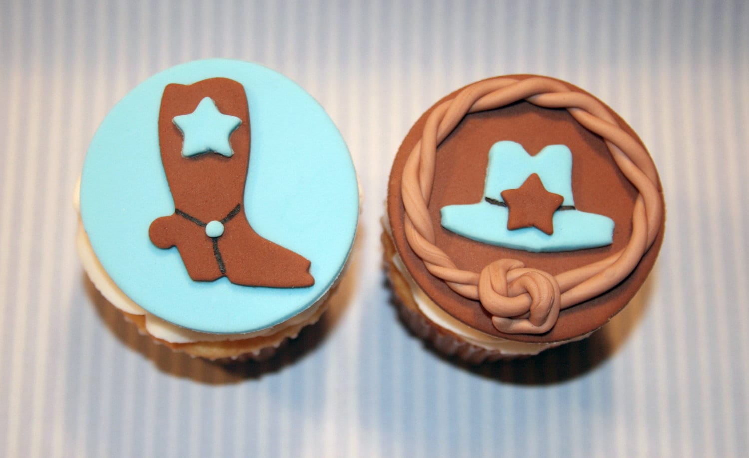 cupcake toppers Cowboy Boot Cowboy Hat Western theme