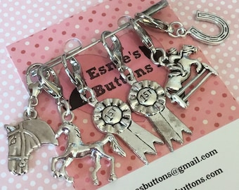 Horse Stitch markers, horse gift, gift for crocheter, horse crocheter, crochet gift, UK seller, for her, for him,