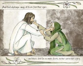 Christ and His mother Mary//Easter Art//Resurrected Christ