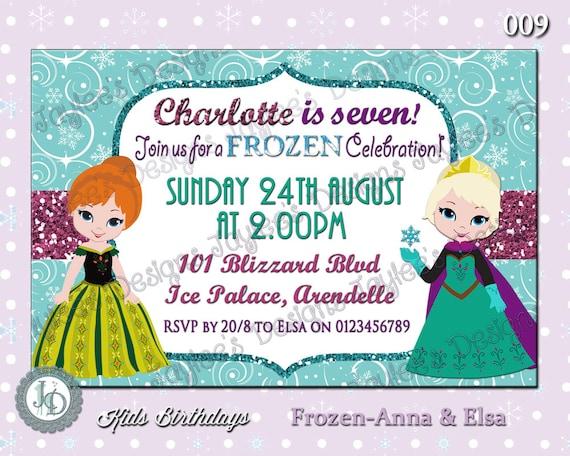 Frozen birthday invitation anna elsa coronation dress like this item solutioingenieria Gallery