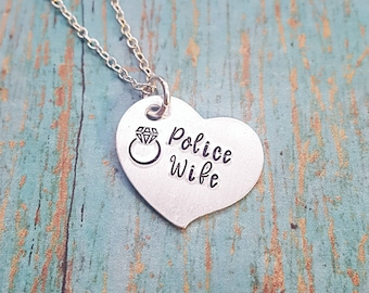 Police Wife Necklace - Police Wife - Gift for Police Wife - Wife Jewelry - Police Jewelry - Gift for Her- Women's Jewelry- Cop Wife - Police