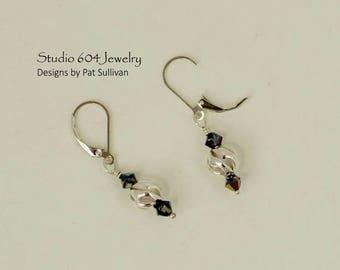 Sterling Silver & Swarovski Crystal Earrings - E7117
