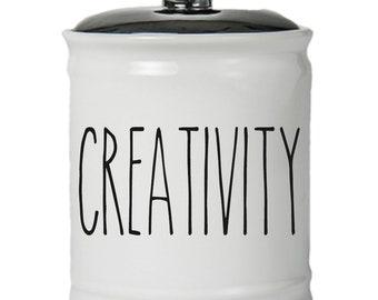 Creativity Word Jar With Lid - Money Coin Jar - Money Bank - Money Jar - Money Jar With Lid