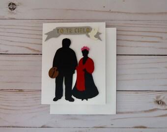 Frida Kahlo and Diego Card, Valentines day card, Dia del Amor, Greeting Card, Hand Illustration, Art, Gift, Viva La Vida, Frida Kahlo, Diego