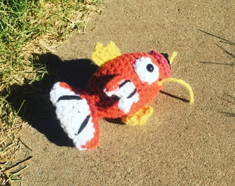 Magikarp inspired chibi amigurumi crochet pokemon go stuffed animal plushie plush toy