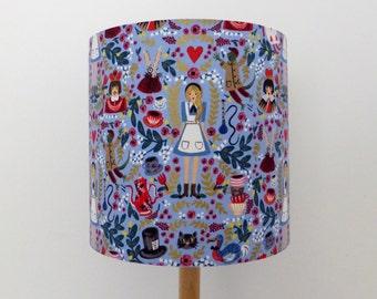 Alice in Wonderland Lamp Shade | Mad Hatter | White Rabbit | Cheshire Cat