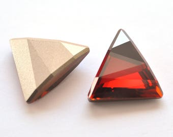 Red Magma Swarovski 21.5mm Delta Fancy Stone Crystal 1 Piece 4717