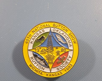 1983 95th NBS show champleve enamel button.