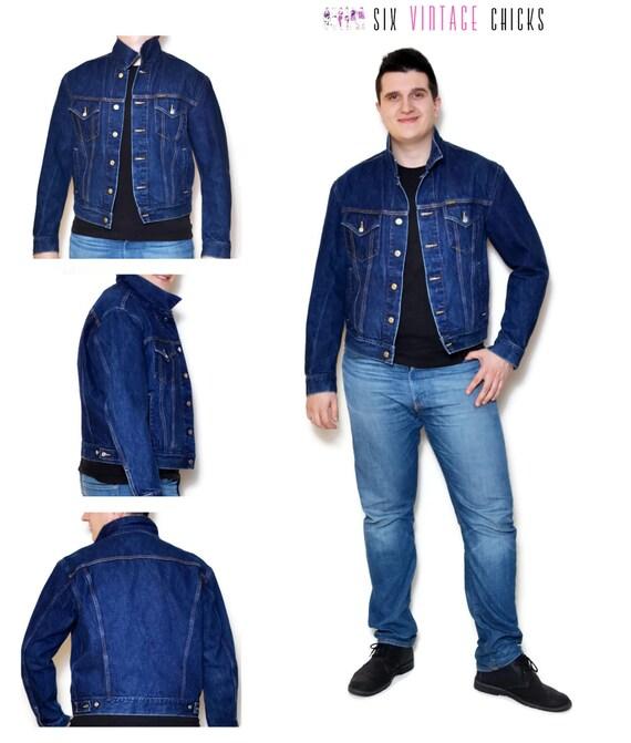jeans jacke vintage 90er jahre jeansjacke herren jacke. Black Bedroom Furniture Sets. Home Design Ideas