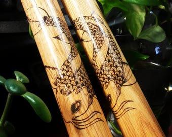 Bachi - Koi Design - Oak