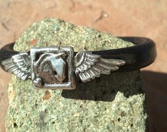 Pegasus Portrait Horse head with wings