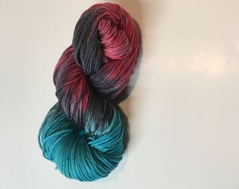 Hand Dyed Merino, HandDyed Wool, Superwash Yarn, Merino Yarn, Worsted Weight Merino, Superwash Wool, Superwash Merino Wool