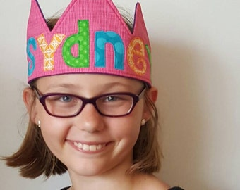 Kids Personalized Crown- Birthday// Holiday// Gift