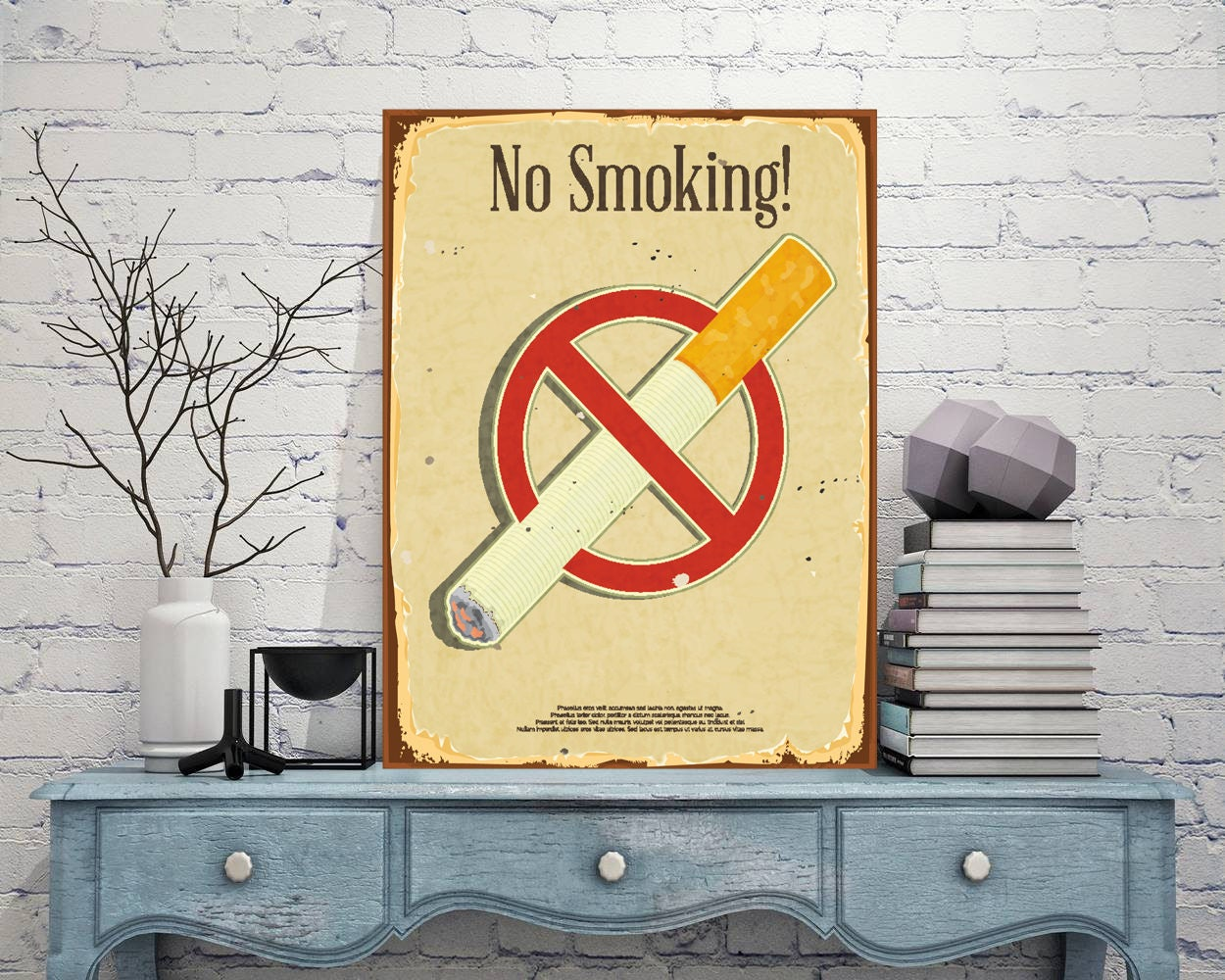 No smoking sign No smoking wall decor Custom metal sign