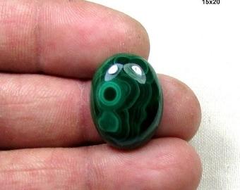 ON SALE 17ct Malachite Natural Gemstone, Cabochon Semi Precious Loose Gemstone in Stock 15x20