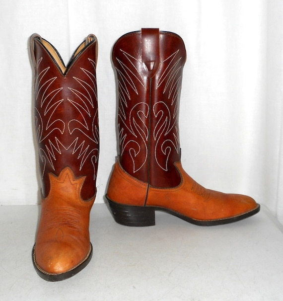 Brown Womens Two Mens Cowboy Country Indie Western 5 D 7 Tan Size Tone 8 Boots Urban aFaP0