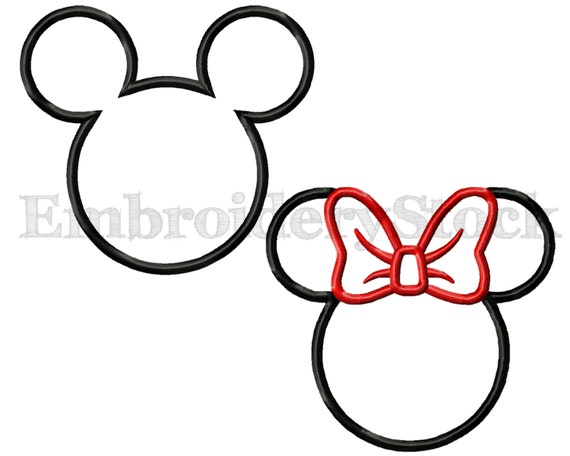 Minnie mouse applique and mickey mouse applique machine for Embroidery office design version 9