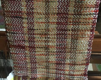 Handwoven scarf, bamboo, merino, cashmere