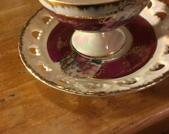 Vintage Empress By Haruta Cup and Saucer.  A set of 2.