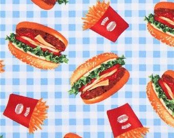 Burgers & Fries-Checkered B/G-Robert Kaufman-BTY