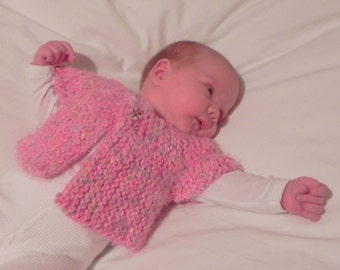 French Angel Capelet Baby Sweater Knitting Pattern PDF, Fast and Easy