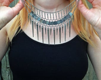 Punk Rock Spiked Necklace