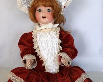 Large Antique/Vintage German Doll - Made In Germany - Head Damaged /MEMsArtShop.