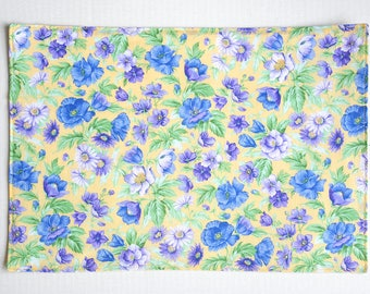 Handmade Blue and Purple Floral Placemats