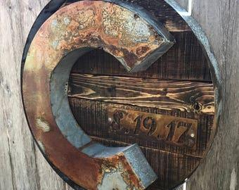Rustic Metal Sign