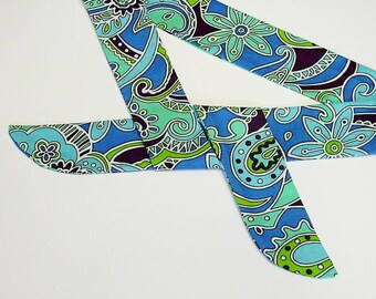 Neck Cooler, Stay COOL Tie Bandana Wrap, Body Head Heat Relief Cooling Headband, Eco Friendly Gel Scarf, Blue Green Purple Paisley iycbrand